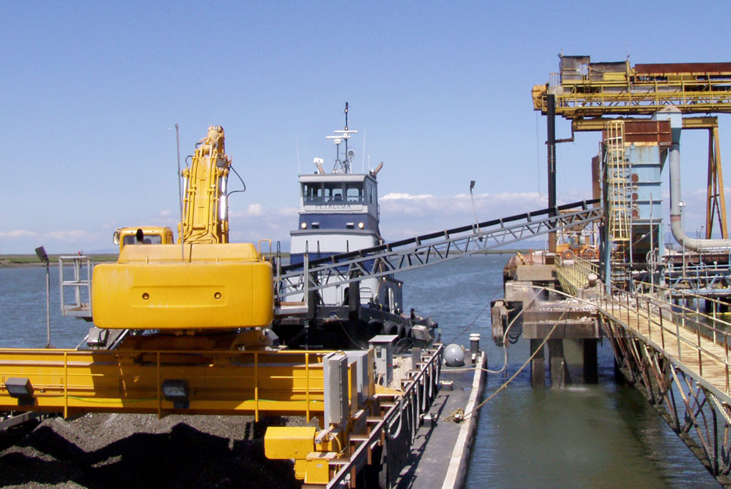 aggregate offloading to barge