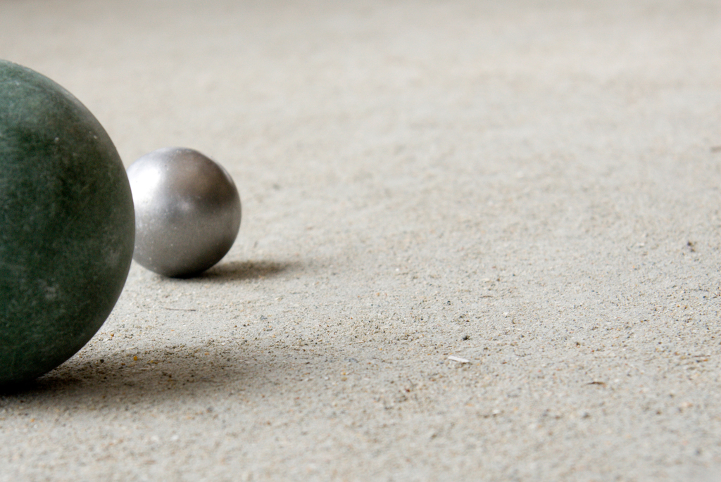 Oyster Shell Bocce Ball Court Materials