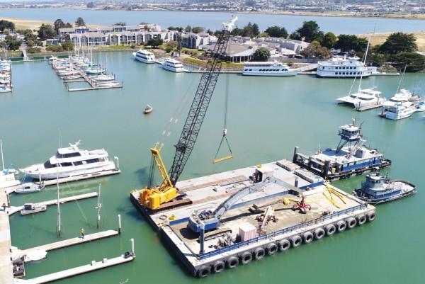 Berkeley Marina Ship Raising
