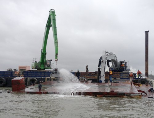 Lash Barge & Pipeline Removal